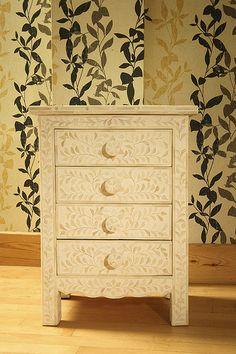 Bone Cream  Bedside Table http://www.irisfurnishing.com/Bone-Inlay-Furniture-s/1814.htm