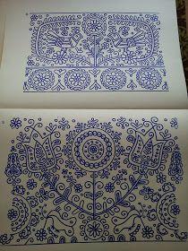 Hungarian Embroidery Patterns from Kalotaszeg. Hungarian Embroidery, Folk Embroidery, Learn Embroidery, Floral Embroidery, Chain Stitch Embroidery, Embroidery Stitches, Embroidery Patterns, Stitch Head, Scandinavian Folk Art