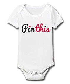White 'Pin This' Bodysuit - Infant