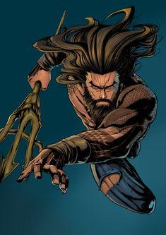 Mera Dc Comics, Dc Comics Art, Character Design Animation, Character Art, Aquaman Injustice, Jason Momoa Aquaman, Dc Trinity, Comic Book Superheroes, Character