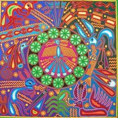 Huichol Indian Yarn Art