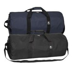 @Overstock - Everest 30-inch Polyester Rounded Duffel Bag - This 30-inch round duffel bag features a large zippered main compartment and front flap pocket. This duffel bag includes a padded Velcro grab handle and an adjustable shoulder strap.    http://www.overstock.com/Luggage-Bags/Everest-30-inch-Polyester-Rounded-Duffel-Bag/6033100/product.html?CID=214117  $22.49