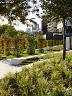 Eastside City Park, Birmingham, West Midlands, England by Patel Taylor, Architects Urban Park, Urban City, Gardens Of The World, Park Pictures, Landscape Architecture Design, Public Garden, Plant Design, Urban Landscape, Park City