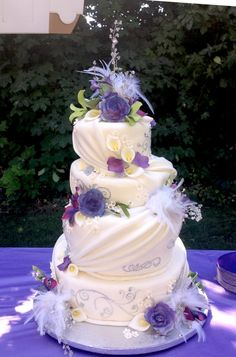 Purple topsy cake. Almost completely perfect...