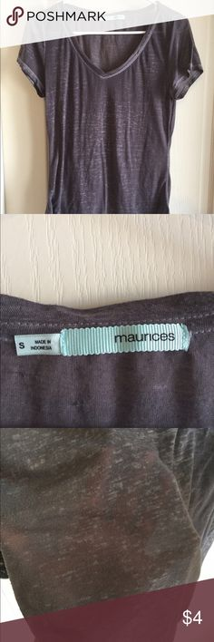 Maurices Woman's Sublime Tee Good condition, needs undershirt.  Dark Grey color. Maurices Tops Tees - Short Sleeve