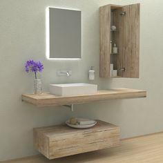 Mobili bagno - Composizione Espiral - Mobile lavabo completo. Il kit comprende mensola lavabo, reggimensole, cassettoni e pensili e lavabi, nelle varie forme e finiture proposte, o combinazioni di quest'ultime.