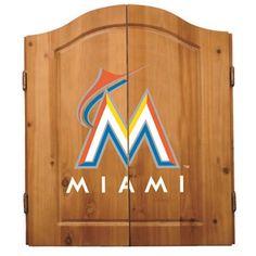 Miami Marlins Dart Cabinet