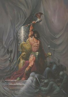 m Barbarian underdark Shrine clerics story The Geeky Nerfherder: Happy Birthday Robert E Howard Dark Fantasy, Fantasy Rpg, Fantasy Artwork, Deviant Art, Comic Books Art, Comic Art, Robert E Howard, Conan The Conqueror, Conan Comics