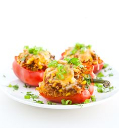 Bell Peppers Stuffed with Taco Rice