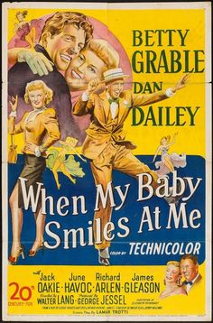 20Th Century Fox Movie Posters | Movie Posters:Musical, When My Baby Smiles at Me (20th Century Fox ...