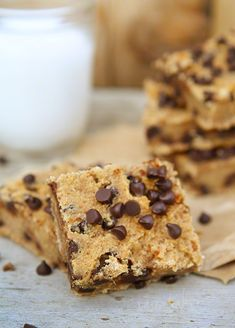 Chocolate Chip Banana Bars #paleo