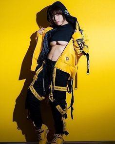 "fafifefoto: "" Nanase Sakura "" in 2020 Cyberpunk Mode, Cyberpunk Aesthetic, Cyberpunk Fashion, Fashion Models, Girl Fashion, Fashion Outfits, Fashion Design, Nike Outfits, Elite Model"