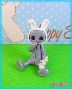 Easter Botty Robot White Limited Edition by sleepyrobot13 on Etsy