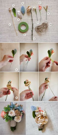 sweet boutonniere ~ Only Deco