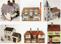 PAPERMAU: 1948`s Kellogg´s British Village Paper Model - via Little House Cards