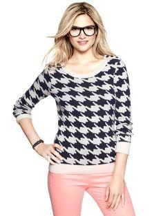 Gap Houndstooth sweater