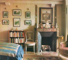 Guest Bedroom - Dowager Duchesse de Mouchy outside Paris. Derry Moore for Architectural Digest.