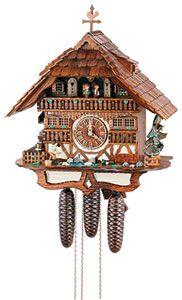 Chalet-Kuckucksuhren Kuckucksuhr 8-Tages-Uhrwerk Chalet-Stil 49cm von Anton Schneider
