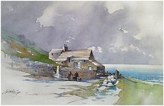 """""""little irish sketch"""" thomas w schaller watercolor 14x22 inches 08 may 2014"""