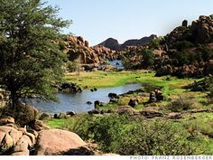 Prescott Arizona... averaging 88.3 degrees in the summer and 50ish in the winter... I'll be looking for the downside ... but for now... it's going on my dream board  Google Image Result for http://i2.cdn.turner.com/money/galleries/2010/real_estate/1009/gallery.best_places_retire.moneymag/images/prescott_az_mag.jpg