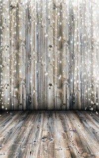 Wish | 3x5Ft Dreamy Grey Wooden Wall Floor Photography Background Vinyl Backdrop Studio Prop 90x150cm
