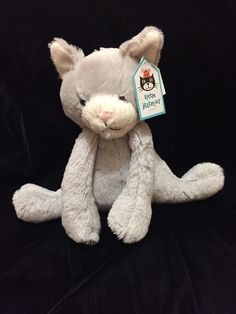 Jellycat Soppy Kitty Plush Soft Toy Gray White Cat Kitten Bashful New Comforter #Jellycat