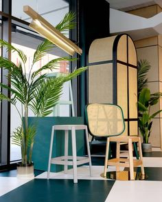 The Cane series wardrobe, stool and lounge chair