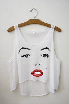 Marilyn Monroe crop top