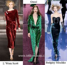 Fall/ Winter 2012/ 2013 Fashion Trend #13: Velvet  Velvet is feminine and soft and every piece made of it has a certain vintage feel. Velvet dresses and suits which flooded the Fall/ Winter 2012/ 2013 runway looked wonderful and reminded us about the time when ladies liked looking like ladies and androgyny was never heard of.