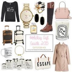 The Trendy Sparrow: Holiday Gift Guide 2015: gifts for her