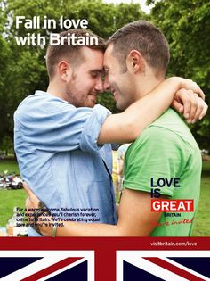 Love is GREAT - New VisitBritain LGBT Campaign | Gay Market News.