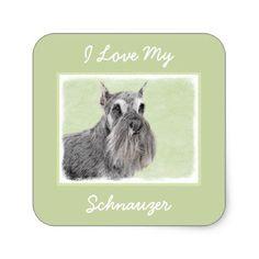 #Schnauzer Square Sticker - #miniature #schnauzer #puppy #schnauzers #dog #dogs #pet #pets #cute #miniatureschnauzer