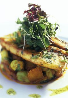 Pan-fried Turbot with Broad Beans