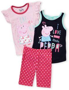 Peppa Pig (Toddler Girls) 3-Piece Tank & Leggings Set Peppa Pig Outfit, Peppa Pig Clothes, Baby & Toddler Clothing, Toddler Girls, Babies Clothes, Peppa Pig Family, Kid Character, Polka Dot Print, 3 Piece