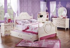 For every father her daughter is a princess, make her feel that way too, with the beautiful Disney Princess Youth Bedroom set.