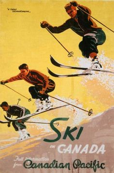Ski in Canada - Canadian Pacific Railroad 1937, A Triple Gelandesprung