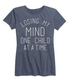 A quirky message adds a touch of personal charm to this tee made from a breathable cotton blend that provides plenty of comfort.