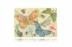 BUTTERFLY Clutches, Vintage World Maps, Butterfly, Canvas, Prints, Leather, Bags, Home Decor, Beast