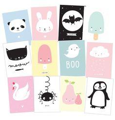 12 postcards Cute Kids