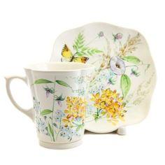 The Flower Collection Cup & Saucer Set from the ceramic workshop of St. Elisabeth Convent - Visit our website: http://catalog.obitel-minsk.com/ #CatalogOfGoodDeeds #teapot #pottery #ceramic #handmade #purchase #order #customize #flowers #deliver #worldwide #shipping #cup #plate #sugar bowl #unique #glaze #mugs #unique #tea set #handpainted #purchase #buy #gift #souvenir #present #online #crafts #tea #overglaze #quality