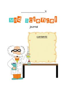 Get this great science notebook cover, plus some great math sheets at this blog!