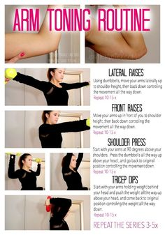 Easy Beginner Arm toning fitness routine workout using dumbbells #fitness #arm