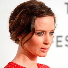 Pretty Bridal Hairstyles for Every Bride Emily Blunt's Disheveled Updo Hairstyle