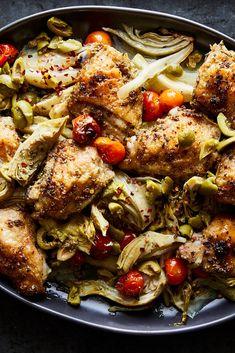 Herb Recipes, Chicken Recipes, Dinner Recipes, Cooking Recipes, Healthy Recipes, Nytimes Recipes, Chicken Seasoning, Sheet Pan, Food Inspiration