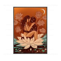 Meditation Canvas Art - 40x60cm No Frame / Lotus