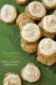Zucchini cookies!!! (Make without the cream cheese frosting.)
