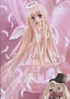 Cute anime angel girl