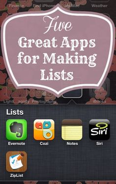 Organizing Made Fun: My Five Favorite Apps for Making Lists Household Organization, Life Organization, Organizing Ideas, Prayer List, Software, Great Apps, Computer Technology, Computer Tips, Evernote