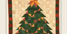 Choose From Three Wallhanging Sizes! Clever placement of squares and half-square triangles stitch up into an eye-catching quilt for display during the holidays. A sweet Christmas tree, garland and topping star included, is formed by simple color placement. Use traditional green, red and gold, as shown in the example here, or mix it up by …