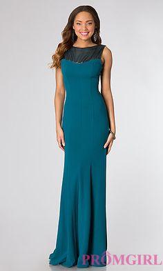 Floor Length Sleeveless Dress at PromGirl.com  http://www.promgirl.com/shop/dresses/viewitem-PD1266353